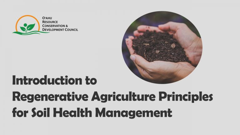 Introduction to regenerative agriculture principles for soil health management